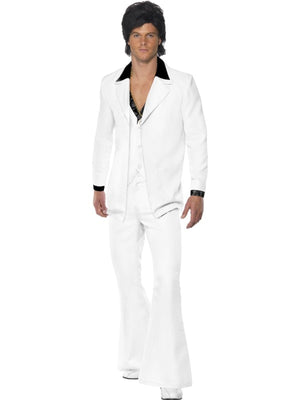 White 1970s Suit Fancy Dress Costume