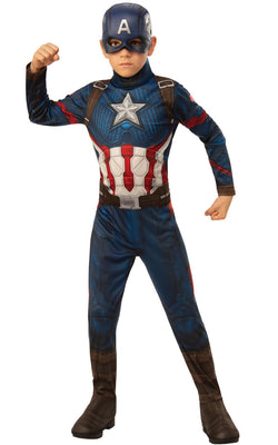 Captain America Engame Avengers 4Marvel DC comics Fancy Dress Boys Costume