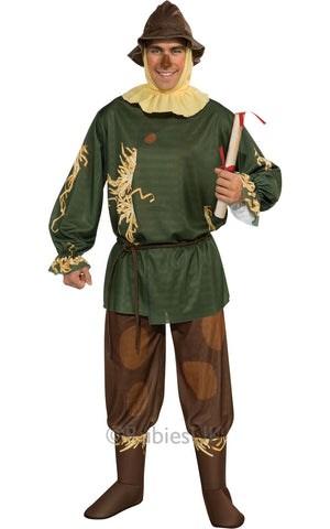 Adult Licensed Wizard Of Oz Scarecrow Mens Fancy Dress
