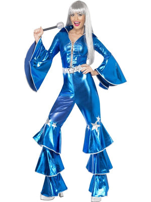 1970s Dancing Dream Fancy Dress Costume Blue