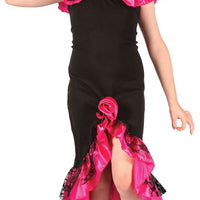 Rumba Girl Costume Black/Pink