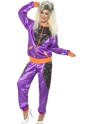 Retro Shell Suit Women's Fancy Dress Costume