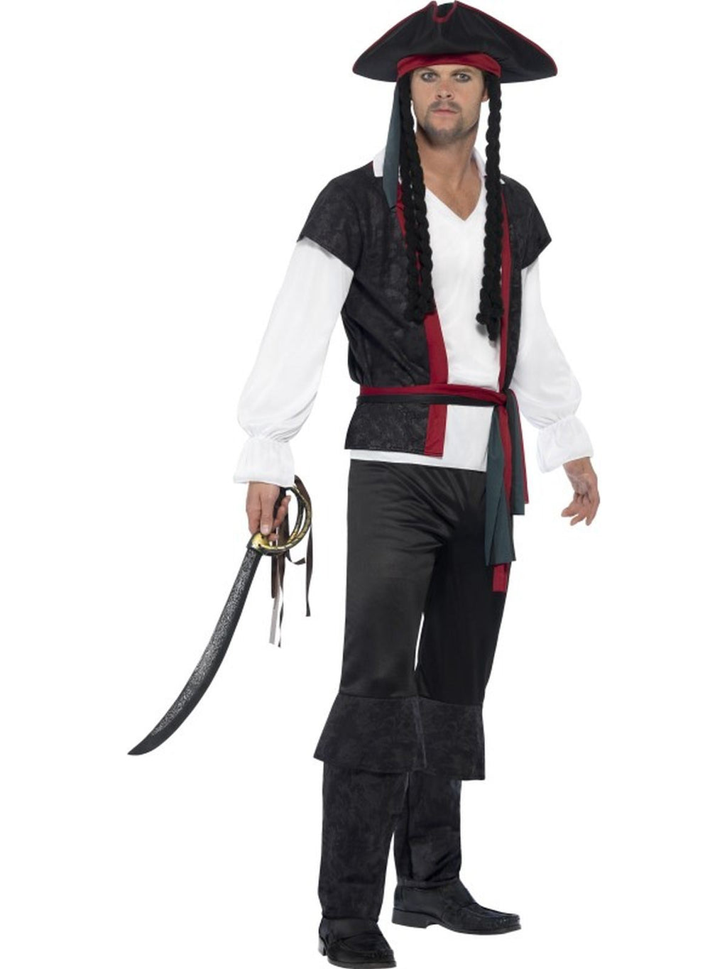 Men's Aye Aye Pirate Captain Fancy Dress Costume