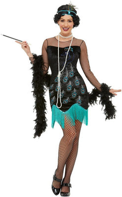 1920s Peacock Flapper Costume