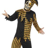 Evil Court Jester Men's Fancy Dress Costume