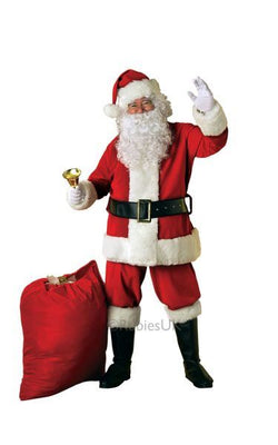 Deluxe Velour Santa Suit Fancy Dress Costume