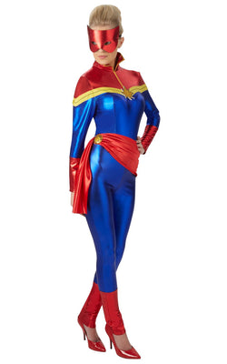 Women's Captain Marvel Fancy Dress Costume