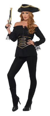 Deluxe Pirate Shirt Women's Fancy Dress