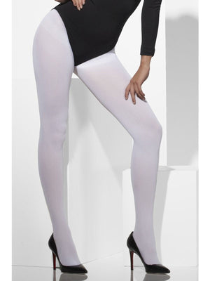 Womens Opaque Tights White