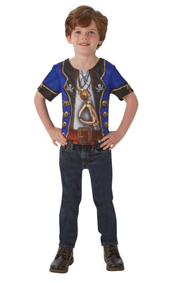 Pirate Tshirt Boy's Fancy Dress Costume