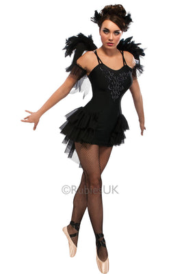 Womens Sexy Black Swan Costume