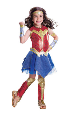 Wonder Woman Deluxe Girl's Fancy Dress Costume