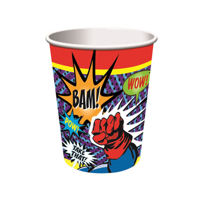 Super Hero Paper Cups 266ml