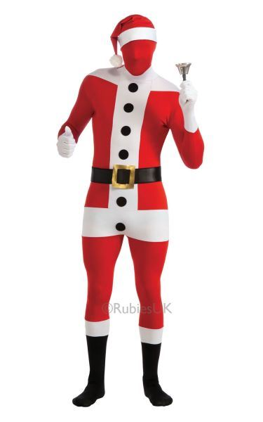 Santa Claus 2nd Skin Suit Fancy Dress Costume