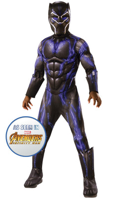 Black Panther Battle Engame Avengers 4Marvel DC comics Fancy Dress Boys Costume