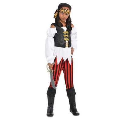 Pretty Scoundrel Girl's Pirate Fancy Dress Costume