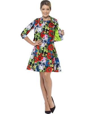 Women's Day of the Dead Dress Fancy Dress Costume