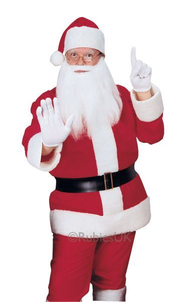 Flannelette Santa Suit Fancy Dress Costume