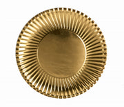 Gold Paper Plates Lge. (10 pack)  23cm