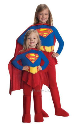 Girls Supergirl Fancy Dress Costume