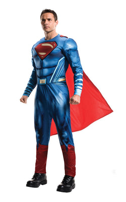 Adult Mens Justice League Superman Fancy Dress Costume