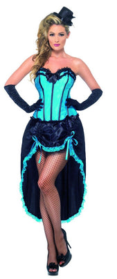 Burlesque Dancer Costume Blue