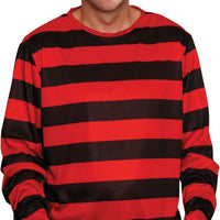 Adult Red And Black Striped Shirt
