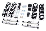 "ZONE OFFROAD 3"" SUSPENSIONS SYSTEM (WITH HYDRO SHOCKS) 2007-2017 JEEP WRANGLER 2 & 4 DOOR"