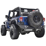 "Jeep JK - Rear Bumper With Two Square LED Lights & 2"" Hitch Receiver"