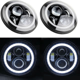 Jeep TJ - LED Projectors Halos & Light bar package with Pods