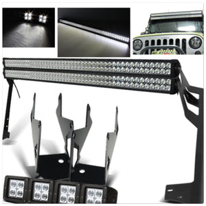 "Jeep JK Pack 5 07 - 2016 double 52"" light bars / 4 pods and all brackets"