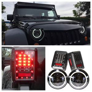Jeep JK - headlights (Projector halo) & Tail Lights
