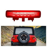 LED 3rd Brake Light for Jeep Wrangler JL 2018 2019 (Black Housing Smoke Lens)