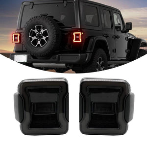 New Version LED Taillights For Jeep Wrangler JL 2018-2019