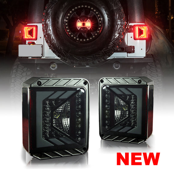 Jeep Wrangler G4 Tail lights Smoke lens