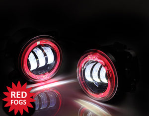 Led Fog Lights with Red Halos