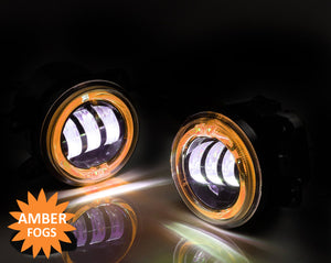 Led Fog Lights with Amber Halos