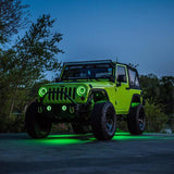 Jeep Wrangler RGB Halo Chasing LED Headlight Fog Light Set