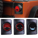 Jeep Wrangler G5 Tail lights round Smoke lens