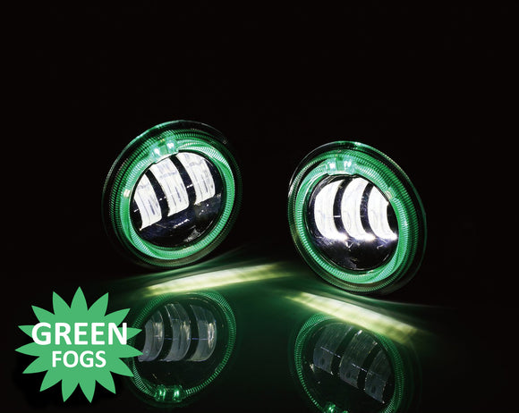 Led Fog Lights with Green Halos
