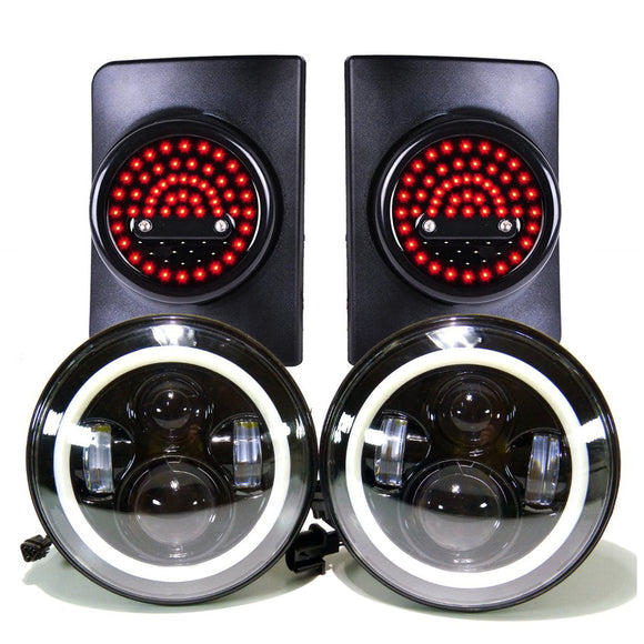 Jeep Wrangler Headlights (Projector halo) & G5 Tail lights