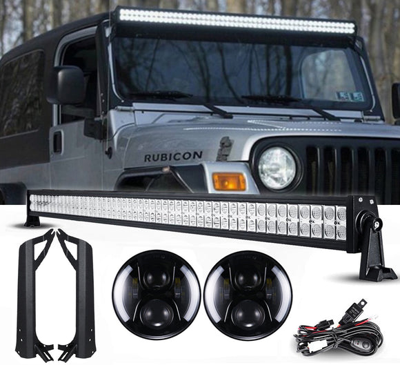 Jeep TJ - Night Back Headlights & Light bar package
