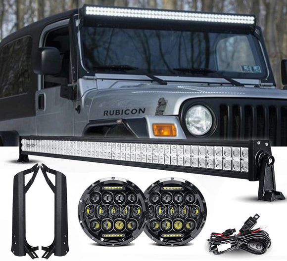 Jeep TJ MVP headlights & Light bar package