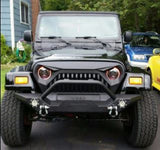 Jeep TJ - LED Projector headlights halo & Vader Grille combo pack RGB