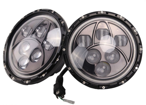 Onyx 6 LED halo headlights / White halos