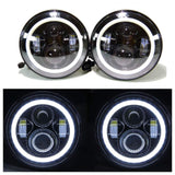 Jeep TJ - LED Projectors White Halos & Light bar package