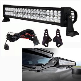 "Jeep JK Pack 1 07-2016 20"" Light Bar , Hood Brackets And Harness"