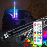 LEDS4LESS  5ft Dancing Spiral RGB LED Whip Light with Wireless Remote Control
