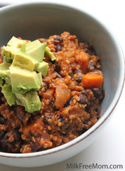 Quinoa & Sweet Potato Chili.  My Voice Vegan Recipes