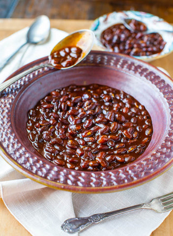 Bourbon Maple Slow Cooker Baked Beans